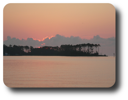 Sunrise on the Neuse River on 18 July at 06:.13.