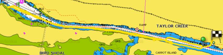 Kayak Taylor Creek plot