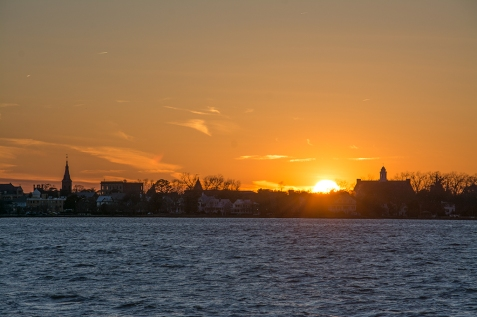 Sunset New Bern on 30 January at 17:28:33 ISO 100 f/10 1/200s