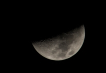 Moon on 22nd at 20:20:34 (backyard in New Bern) 41% visible 1st quarter ISO 200 f/7 1/160s 300mm