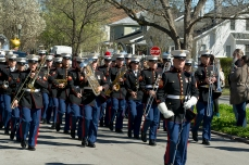 2nd Marine Aircraft Wing Band during the Mardi Gras Parada Ghent Neighborhood ISO 125 f/8 1/80s