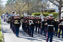 2nd Marine Aircraft Wing Band during the Mardi Gras Parada Ghent Neighborhood ISO 125 f/8 1/125s