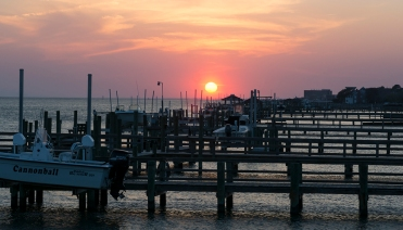 Sunset in Morehead City near bridge crossing Bogue Sound at 19:10:32 ISO 125 f/7 1/25s