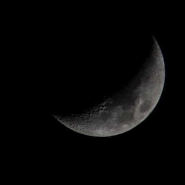 Taken March 22 at 19:38:30 Waxing Crescent 27%