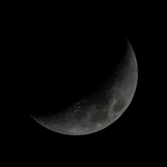 Taken March 22 at 19:45:44 Waxing Crescent 27%