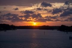 Sunset from Robert Scott Bridge in Oriental, NC on the 6 April ISO 360 f/5.6 1/125