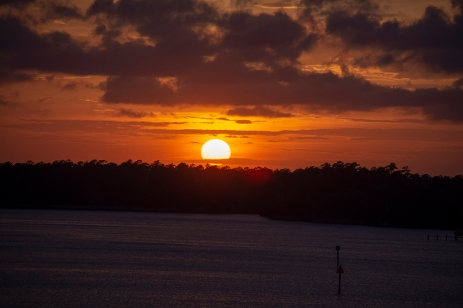 Sunset from Robert Scott Bridge in Oriental, NC on the 6 April ISO 400 f/5.0 1/400