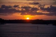 Sunset from Robert Scott Bridge in Oriental, NC on the 6 April ISO 220 f/5.6 1/125
