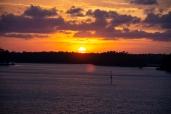 Sunset from Robert Scott Bridge in Oriental, NC on the 6 April ISO 320 f/5.6 1/125