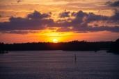 Sunset from Robert Scott Bridge in Oriental, NC on the 6 April ISO 280 f/5.6 1/125