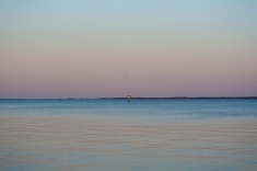 The Neuse River before Moon rise at 19:41;16