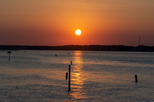 Bogue Sound from the Atlantic Beach side during sunset Taken at 20:10:18 Nikon D7100 Nikon AF-S 55-300mm f/4.5-5.6G ED VR ISO 100 1/125s f/11 92mm