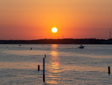 Bogue Sound from the Atlantic Beach side during sunset Taken at 20:12:13 Nikon D7100 Nikon AF-S 55-300mm f/4.5-5.6G ED VR ISO 100 1/100s f/10 86mm