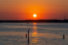 Bogue Sound from the Atlantic Beach side during sunset Taken at 20:12:56 Nikon D7100 Nikon AF-S 55-300mm f/4.5-5.6G ED VR ISO 100 1/100s f/10 86mm
