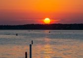 Bogue Sound from the Atlantic Beach side during sunset Taken at 20:15:36 Nikon D7100 Nikon AF-S 55-300mm f/4.5-5.6G ED VR ISO 100 1/100s f/10 86mm