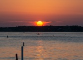 Bogue Sound from the Atlantic Beach side during sunset Taken at 20:16:09 Nikon D7100 Nikon AF-S 55-300mm f/4.5-5.6G ED VR ISO 100 1/100s f/10 86mm