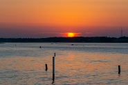 Bogue Sound from the Atlantic Beach side during sunset Taken at 20:16:32 Nikon D7100 Nikon AF-S 55-300mm f/4.5-5.6G ED VR ISO 100 1/100s f/10 86mm