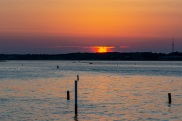 Bogue Sound from the Atlantic Beach side during sunset Taken at 20:17:21 Nikon D7100 Nikon AF-S 55-300mm f/4.5-5.6G ED VR ISO 100 1/100s f/10 86mm
