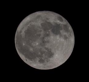 Full Moon at 20:09:31 Shutter Speed: 1/100 Aperture: f/11 ISO: 100 300 mm