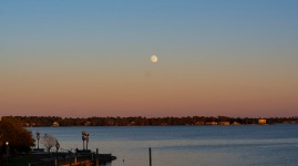 Sunset / Moonrise in New Bern of the 21st.
