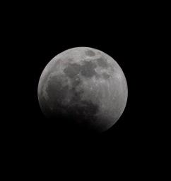 Lunar Eclipse at 22:40:28 Shutter Speed: 1/200 Aperture: f/13 ISO: 200 300mm