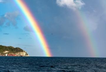 Rainbow during the sunset cruise