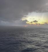 Here come rain at sunrise