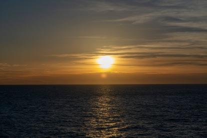 Sunset at 17:38