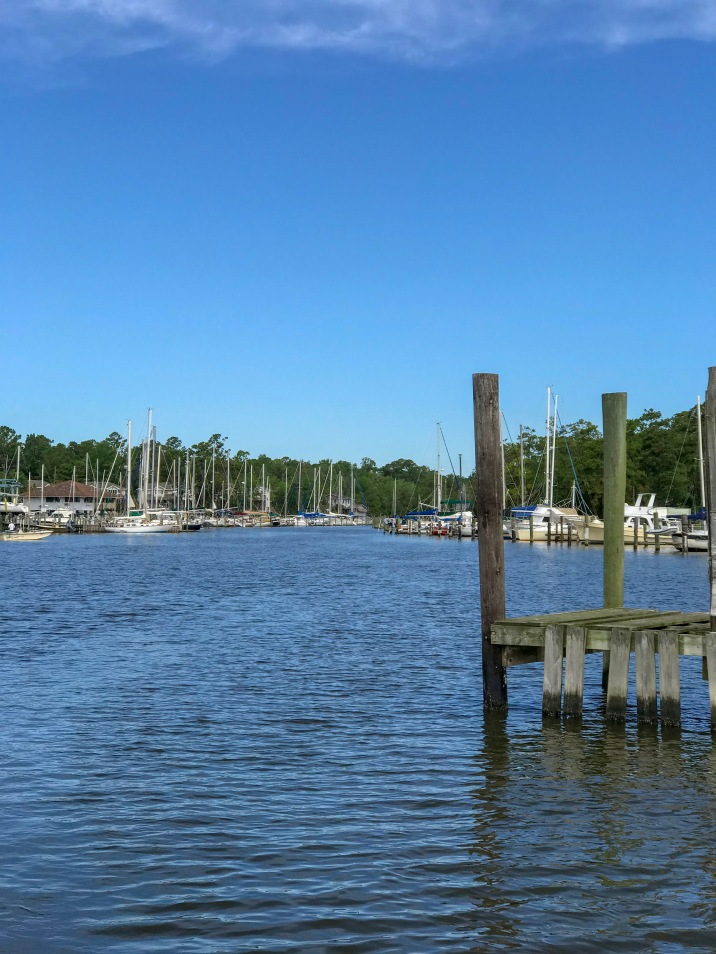 Leaving the docks at Whittaker Creek