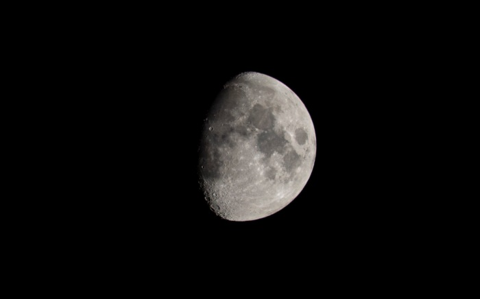 Moonrise at 21:38 on 8th September. The Moon was 74% Waxing Gibbous. Shutter Speed: 1/125 Aperture: f/11 ISO: 200