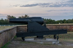 Fort Macon at 07:04 Shutter Speed: .62 seconds Aperture: f/4.5 ISO: 125 55mm