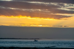 Sunrise over Beaufort Inlet at 07:17 Shutter Speed: 1/100 Aperture: f/8 ISO: 125 125mm