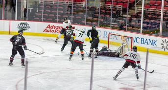 Taken at 22:41 in PNC Arena Shutter Speed: 1/250 Aperture: f/2 ISO set Auto: 200 50mm