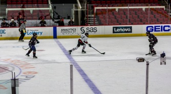 Taken at 23:32 in PNC Arena Shutter Speed: 1/250 Aperture: f/2 ISO set Auto: 100 50mm