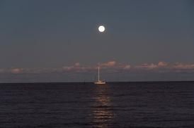 Moonrise taken at 18:30 in Oriental, NC Shutter Speed: 1/13 Aperture: f/4.5 ISO: 125 Focal Length: 80mm