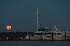 Moon setting taken at 07:12 in Bridgeton, NC Shutter Speed: 1/13 Aperture: f/7 ISO: 400 Focal Length: 185mm