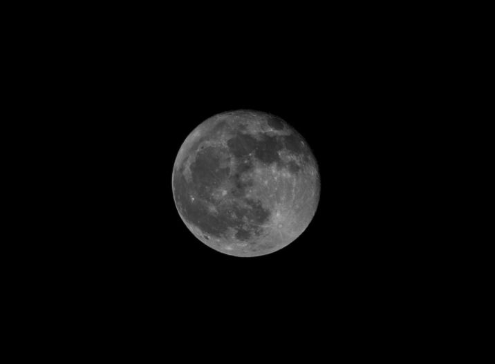 The Moon 98% Waning Gibbous Taken at 21:17 in New Bern, NC Shutter Speed: 1/100 Aperture: f/8 ISO: 50 Focal Length: 300mm