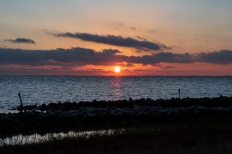 Sunset Harkers Island at 16:53 Shutter Speed: 1/30 Aperture: f/11 ISO: 50 Focal Length: 50mm