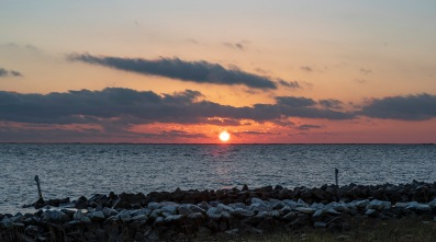 Sunset Harkers Island at 16:54 Shutter Speed: 1/15 Aperture: f/14 ISO: 50 Focal Length: 50mm