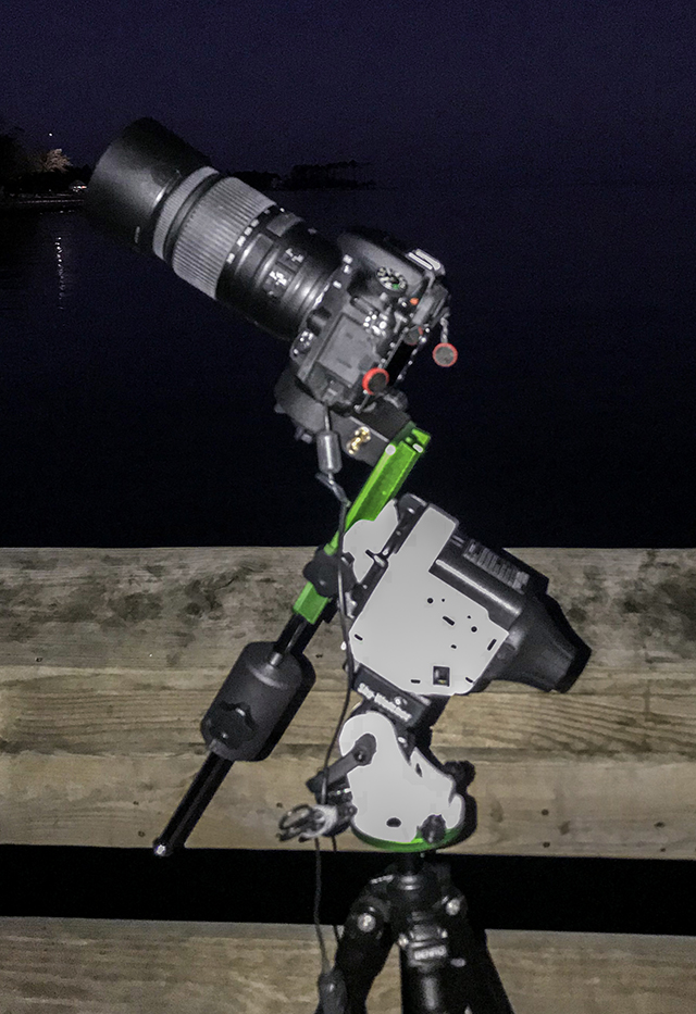 Sky Watcher Star Adventurer 2i Pro Setup on the Fishing Pier in Oriental, NC.